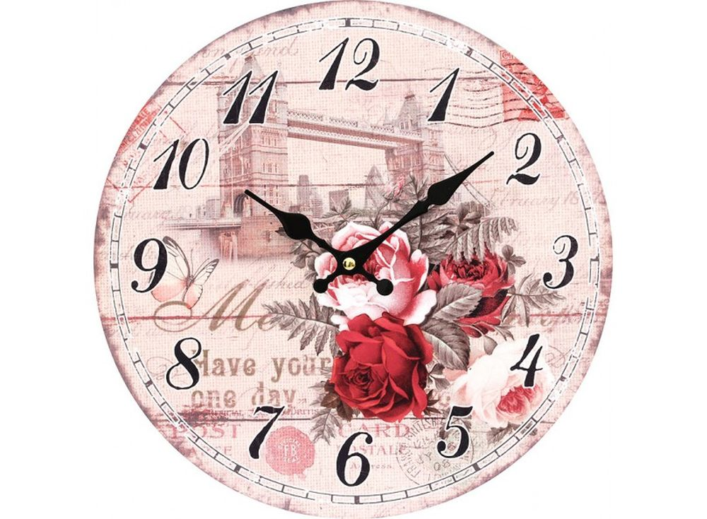 Часы настенные «Таурский мост»Дизайнерские настенные часы<br><br><br>Артикул: 139-CL<br>Размер: 34 см (диаметр)