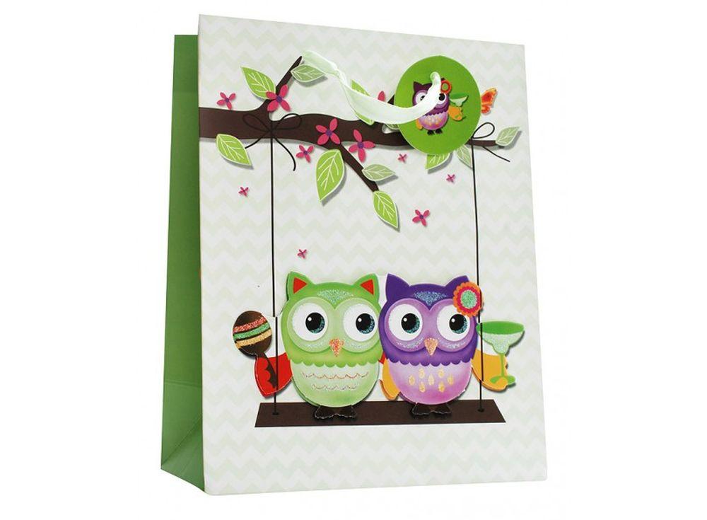 Подарочный пакет «Двое на качелях»Подарочные пакеты<br><br><br>Артикул: 1419М-SB<br>Размер: 26x12x32 см
