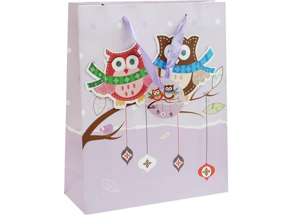 Подарочный пакет «Ожидание праздника»Подарочные пакеты<br><br><br>Артикул: 1422-SB<br>Размер: 26x12x32 см