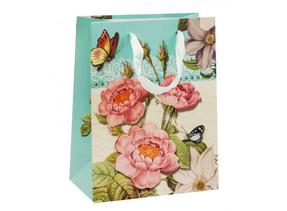 Подарочный пакет «Китайский розан»Подарочные пакеты<br><br><br>Артикул: 1553S-SB<br>Размер: 18x10x23 см