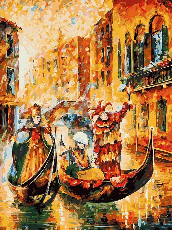 Картина по номерам «Венецианская гондола» Леонида АфремоваКартины по номерам Белоснежка<br><br><br>Артикул: 187-AS<br>Основа: Холст<br>Сложность: очень сложные<br>Размер: 30x40 см<br>Количество цветов: 29<br>Техника рисования: Без смешивания красок
