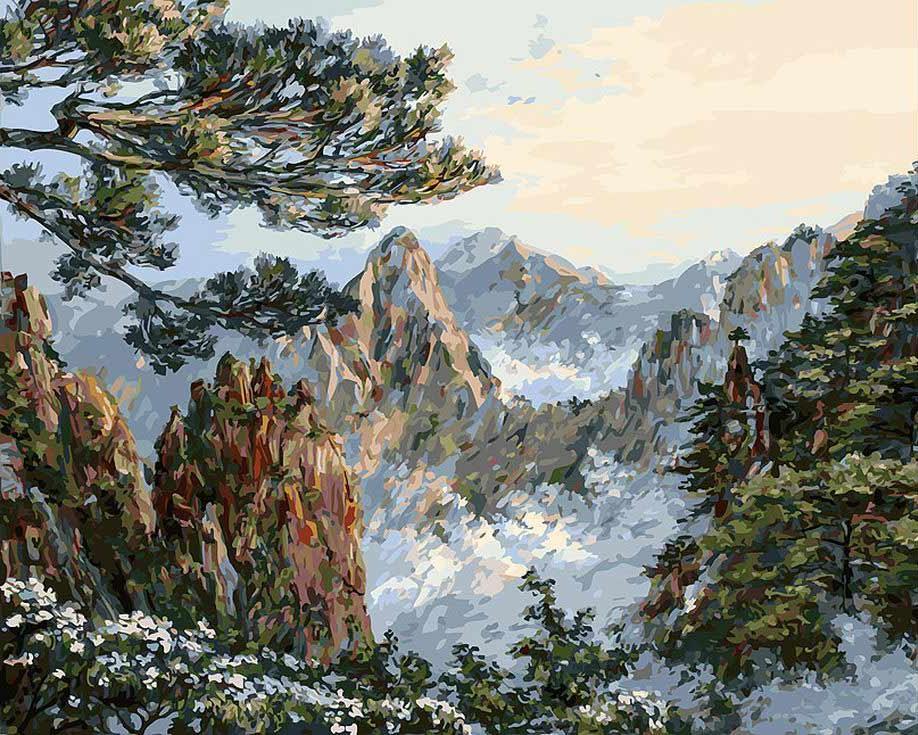 Картина по номерам «Китай. Хуаншань» творческого коллектива Artemis