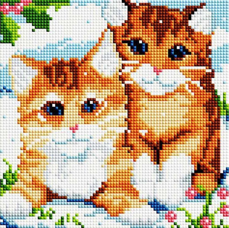 Стразы «Рыжие котята»Алмазная вышивка фирмы Белоснежка<br><br><br>Артикул: 370-ST-S<br>Основа: Холст на подрамнике<br>Сложность: средние<br>Размер: 20x20 см<br>Выкладка: Полная<br>Количество цветов: 15<br>Тип страз: Квадратные