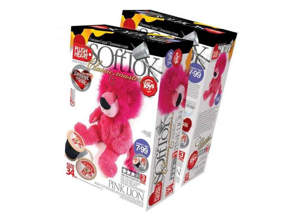 Набор для шитья игрушки «Розовый лев»Наборы для шитья игрушек<br>С помощью набора ребенок почти самостоятельно (возможно, совсем немного понадобится помощь или контроль взрослого) может сшить прекрасную мягкую эксклюзивную игрушку. В комплект набора входят все материалы, которые необходимы для пошива игрушки (кроме инс...<br><br>Артикул: 457009<br>Сложность: средние<br>Размер: высота 34 см<br>Техника: Шитье<br>Упаковка: 28x19x9 см<br>Возраст: от 7 лет