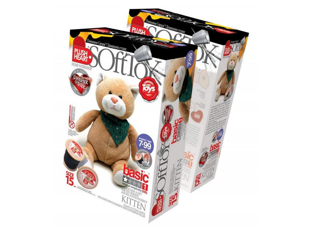 Набор для шитья игрушки «Котенок»Наборы для шитья игрушек<br>С помощью набора ребенок почти самостоятельно (возможно, совсем немного понадобится помощь или контроль взрослого) может сшить прекрасную мягкую эксклюзивную игрушку. В комплект набора входят все материалы, которые необходимы для пошива игрушки (кроме инс...<br><br>Артикул: 457024<br>Сложность: средние<br>Размер: высота 15 см<br>Техника: Шитье<br>Упаковка: 22x15x7 см<br>Возраст: от 7 лет