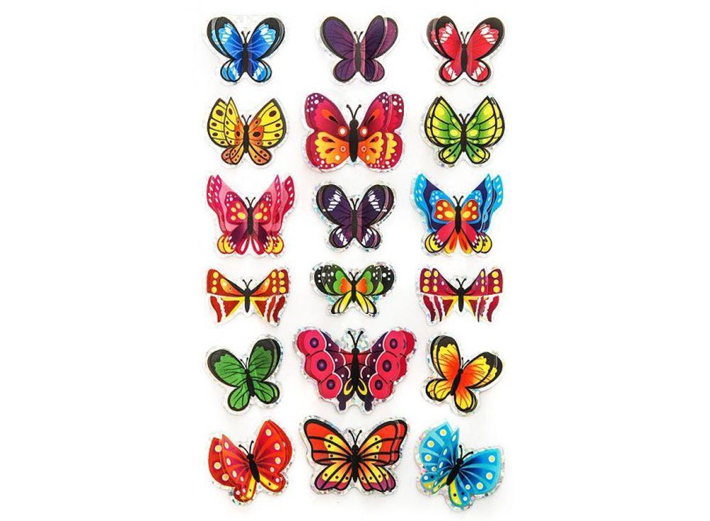 Декоративные наклейки «Летние бабочки»Бумага и материалы для скрапбукинга<br>Наклейки изготовлены из цветной пленки:<br><br><br>верхняя часть - объемные крылышки;<br>нижняя часть (основа наклейки) - приклеена на лист-подложку.<br><br><br>Яркие декоративные наклейки украсят любые изделия, оформленные в стиле скрапбукинг: альбомы, блокноты,...<br><br>Артикул: 800-DB<br>Размер: 9,5x15 см<br>Материал: Цветная пленка