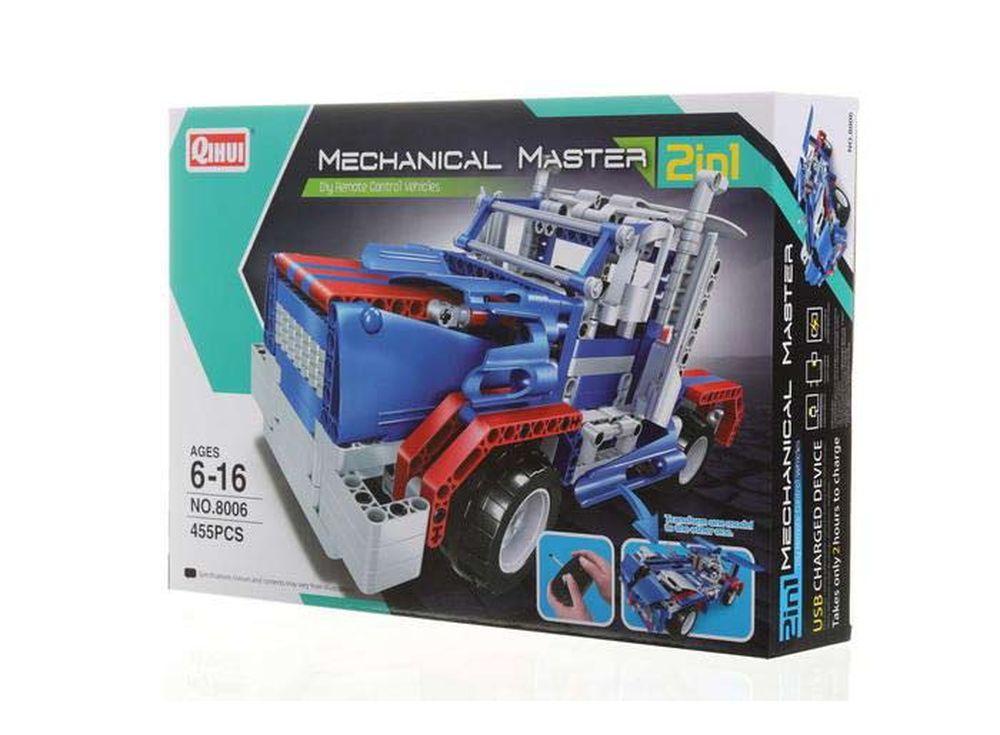 Конструктор QIHUI «Starry Sky»Радиоуправляемые конструкторы QIHUI<br>Радиоуправляемый грузовик-конструктор Starry Sky - это грузовик на радиоуправлении QiHui, и он является не просто игрушкой, а и конструктором. Играя с этим автомобилем, ребенок почувствует себя не только драйвером, но и инженером, собирающим модель авто...<br><br>Артикул: 8006<br>Вес: 1200 г<br>Размер готовой модели: 29x14x14 см<br>Материал: Пластик<br>Размер упаковки: 42,5x29,5x9 см<br>Возраст: от 6 лет