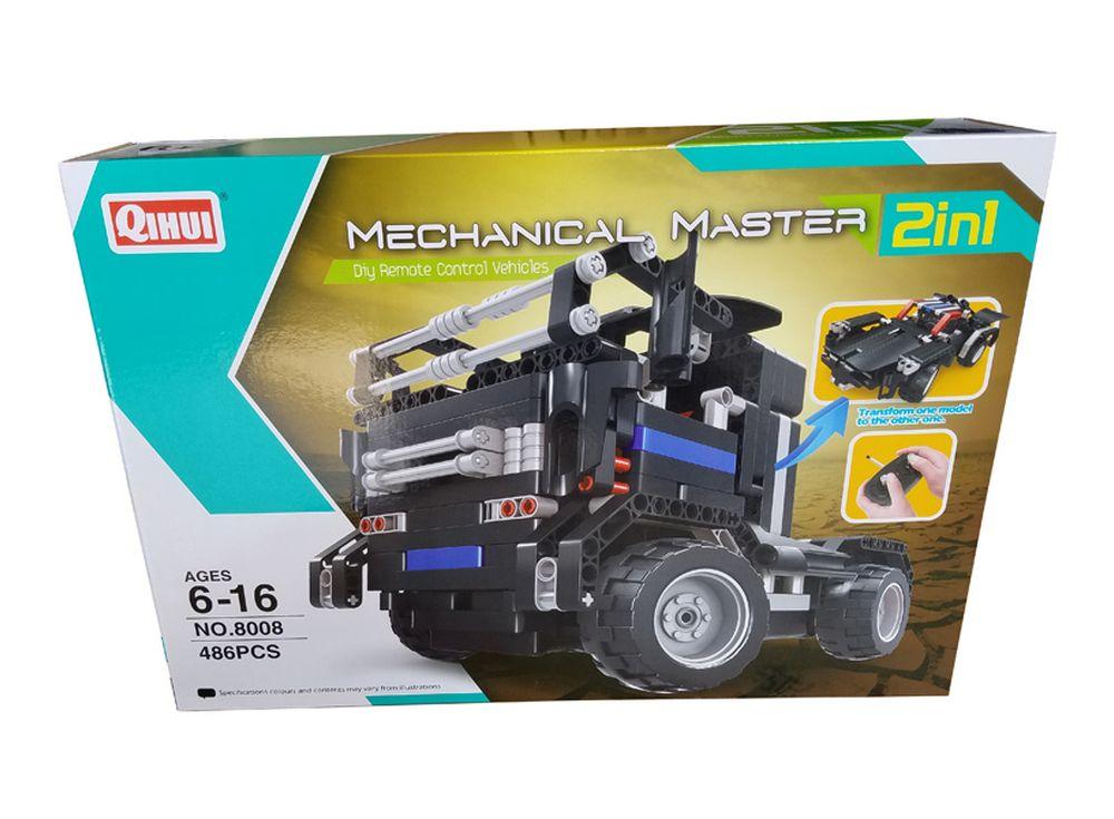 Конструктор QIHUI «Road Bad»Радиоуправляемые конструкторы QIHUI<br>Радиоуправляемый грузовик-конструктор Road Bad - это грузовик на радиоуправлении QiHui, и он является не просто игрушкой, а и конструктором. Играя с этим автомобилем, ребенок почувствует себя не только драйвером, но и инженером, собирающим модель автомо...<br><br>Артикул: 8008<br>Вес: 1200 г<br>Размер готовой модели: 29x14x17 см<br>Материал: Пластик<br>Размер упаковки: 42,6x29,5x9 см<br>Возраст: от 6 лет