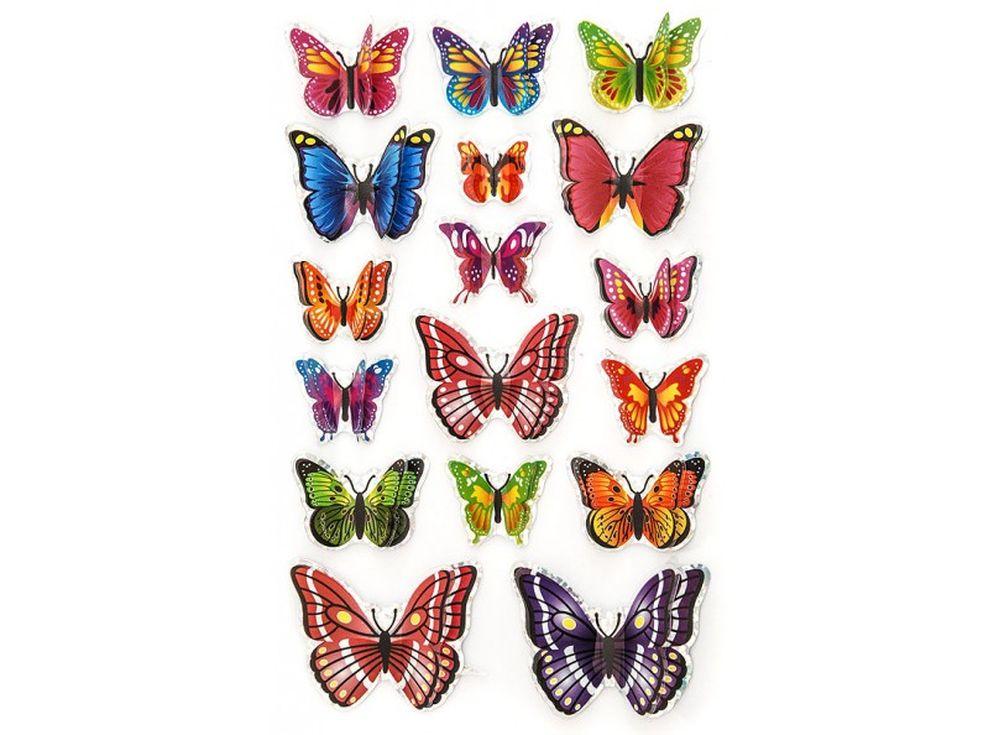 Декоративные наклейки «Разноцветные бабочки»Бумага и материалы для скрапбукинга<br>Наклейки изготовлены из цветной пленки:<br><br><br>верхняя часть - объемные крылышки;<br>нижняя часть (основа наклейки) - приклеена на лист-подложку.<br><br><br>Яркие декоративные наклейки украсят любые изделия, оформленные в стиле скрапбукинг: альбомы, блокноты,...<br><br>Артикул: 801-DB<br>Размер: 9,5x15 см<br>Материал: Цветная пленка