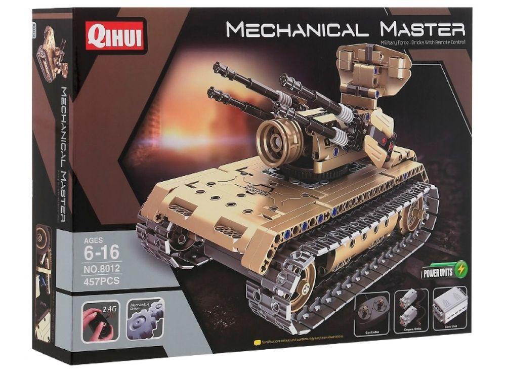 Конструктор QIHUI электромеханический «Anti-aircraft tank»Радиоуправляемые конструкторы QIHUI<br>Радиоуправляемый Anti-aircraft tank - это танк на радиоуправлении QiHui, и он является не просто игрушкой, а и конструктором. Играя с этим танком, ребенок почувствует себя не только владельцем мощной техники, но и инженером, собирающим модель. В набор вхо...<br><br>Артикул: 8012<br>Вес: 1200 г<br>Материал: Пластик<br>Размер упаковки: 51x36x7 см<br>Возраст: от 6 лет