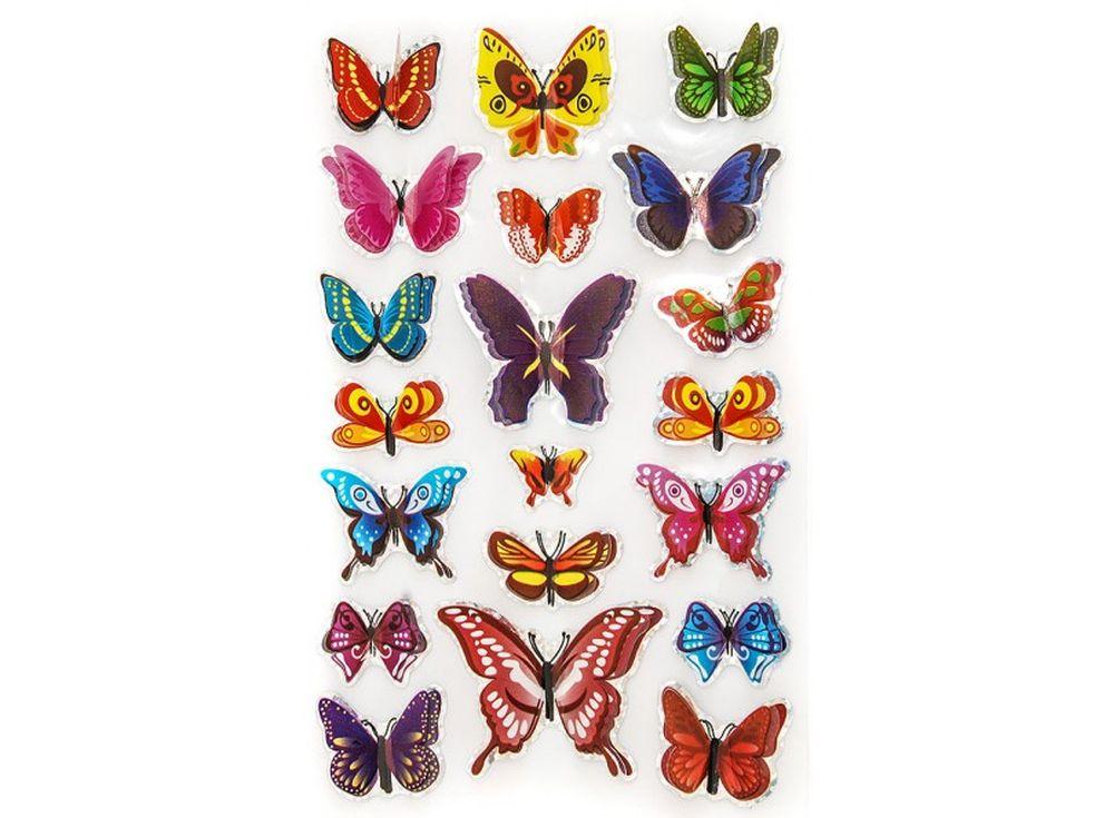 Декоративные наклейки «Маленькие бабочки»Бумага и материалы для скрапбукинга<br>Наклейки изготовлены из цветной пленки:<br><br><br>верхняя часть - объемные крылышки;<br>нижняя часть (основа наклейки) - приклеена на лист-подложку.<br><br><br>Яркие декоративные наклейки украсят любые изделия, оформленные в стиле скрапбукинг: альбомы, блокноты,...<br><br>Артикул: 802-DB<br>Размер: 9,5x15 см<br>Материал: Цветная пленка