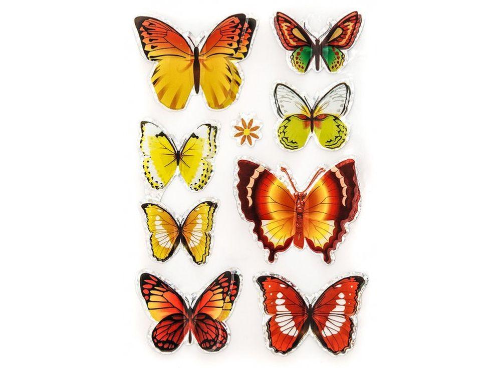 Декоративные наклейки «Чудесные бабочки»Бумага и материалы для скрапбукинга<br>Наклейки изготовлены из цветной пленки:<br><br><br>верхняя часть - объемные крылышки;<br>нижняя часть (основа наклейки) - приклеена на лист-подложку.<br><br><br>Яркие декоративные наклейки украсят любые изделия, оформленные в стиле скрапбукинг: альбомы, блокноты,...<br><br>Артикул: 808-DB<br>Размер: 9,5x15 см<br>Материал: Цветная пленка