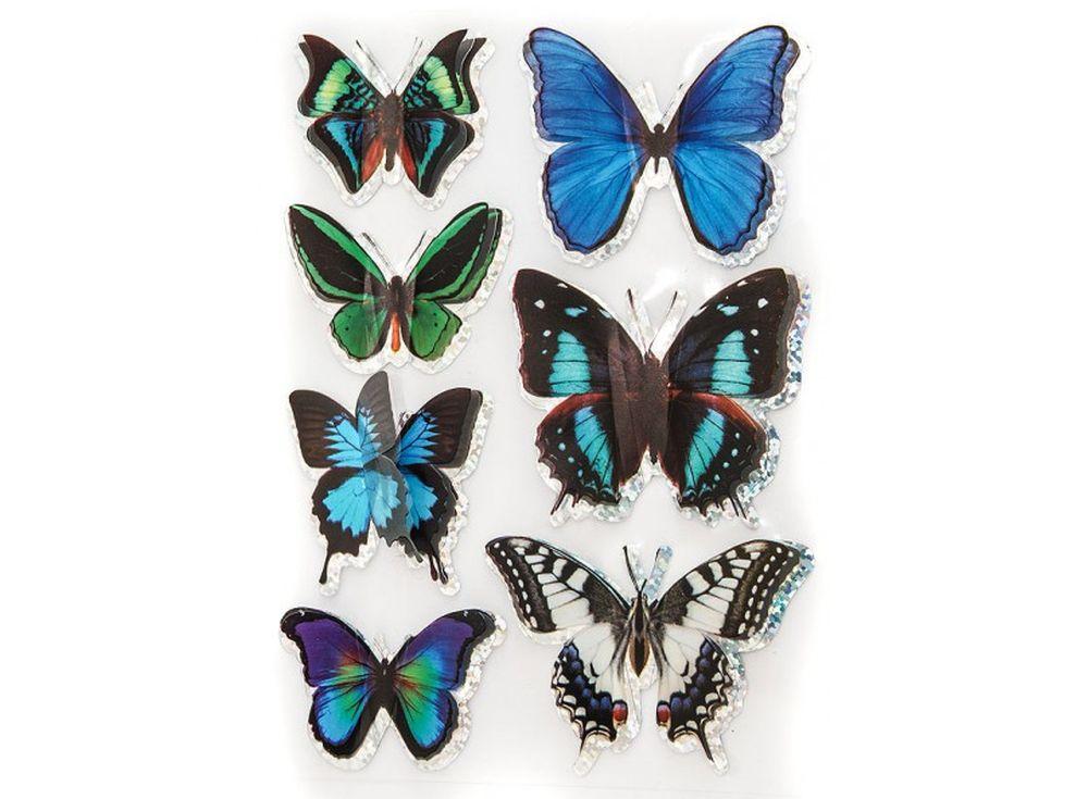 Декоративные наклейки «Экзотические бабочки»Бумага и материалы для скрапбукинга<br>Наклейки изготовлены из цветной пленки:<br><br><br>верхняя часть - объемные крылышки;<br>нижняя часть (основа наклейки) - приклеена на лист-подложку.<br><br><br>Яркие декоративные наклейки украсят любые изделия, оформленные в стиле скрапбукинг: альбомы, блокноты,...<br><br>Артикул: 809-DB<br>Размер: 9,5x15 см<br>Материал: Цветная пленка