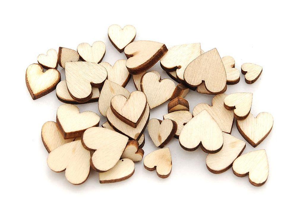Деревнные чипборды «Сердечки мини»Бумага и материалы дл скрапбукинга<br><br><br>Артикул: 841-DB<br>Размер: 0,6 -1,2 см<br>Количество: 50 шт.<br>Материал: Дерево