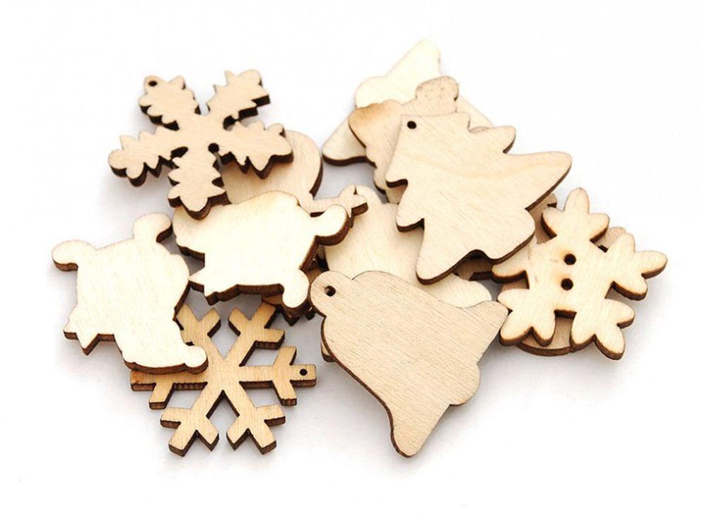 Деревянные чипборды «Фигуры»Бумага и материалы для скрапбукинга<br><br><br>Артикул: 842-DB<br>Размер: 3 см<br>Количество: 30 шт.<br>Материал: Дерево