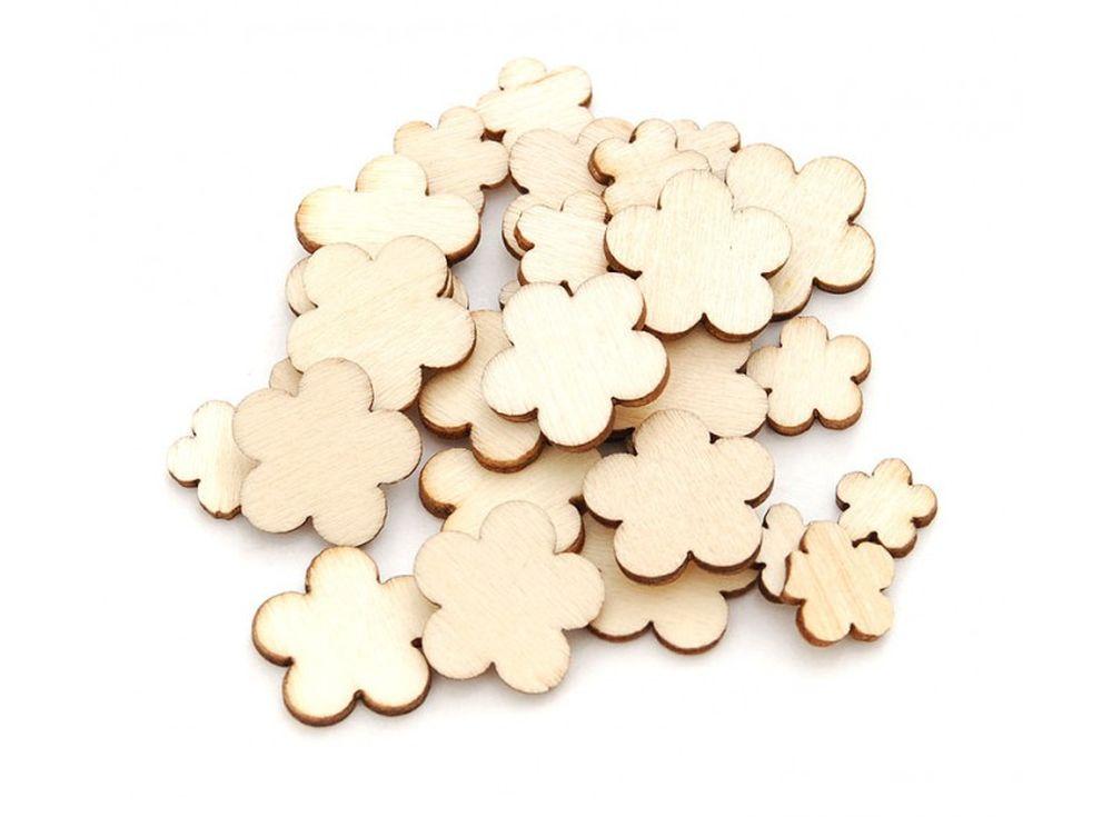 Деревнные чипборды «Цветок»Бумага и материалы дл скрапбукинга<br><br><br>Артикул: 844-DB<br>Размер: 0,6-1,5 см<br>Количество: 50 шт.<br>Материал: Дерево