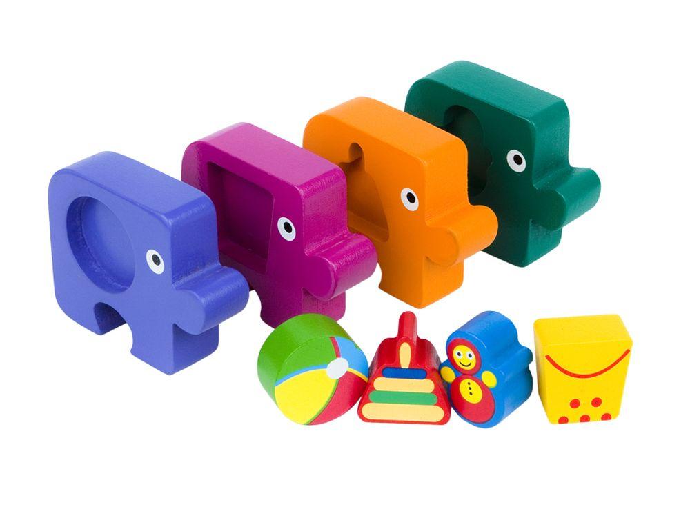 Игра из дерева «Первый пазл малыша. Подбираем фигуры. Игрушки»Настольные развивающие игры<br>Ориентирована на активное развитие мелкой моторики, сенсорики, речи, памяти, внимания, логического и образного мышления.<br><br>Артикул: 89026<br>Размер упаковки: 17x16,5x4 см<br>Возраст: от 1 года<br>Время игры: 10-30 мин.<br>Количество игроков: 1+<br>Аудитория: Детские
