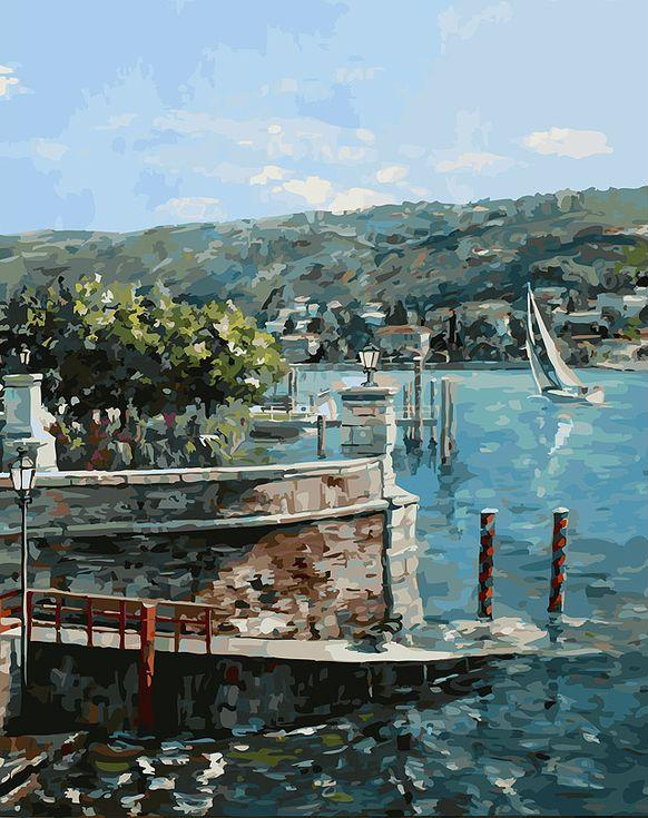 Купить Картина по номерам «Изола-Белла на озере Лаго-Маджоре» творческого коллектива Artemis, Белоснежка