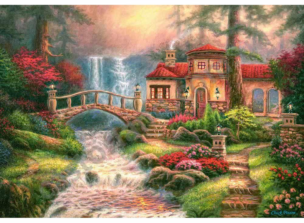Пазлы «Дом у водопада» Чака ПинсонаПазлы от производителя Castorland<br><br><br>Артикул: B52202<br>Размер: 47x33 см<br>Размер упаковки: 32,5x22,5x5 см