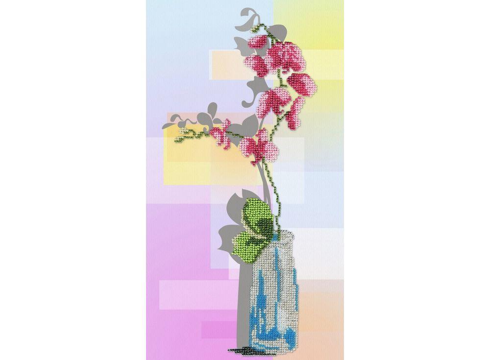 Набор вышивки бисером «Орхидея»Вышивка бисером МП-студия<br><br><br>Артикул: БГ-180<br>Основа: габардин<br>Размер: 32x18 см<br>Техника вышивки: бисер<br>Тип схемы вышивки: Цветная схема<br>Количество цветов: 11<br>Заполнение: Частичное<br>Рисунок на канве: нанесён рисунок и схема<br>Техника: Вышивка бисером
