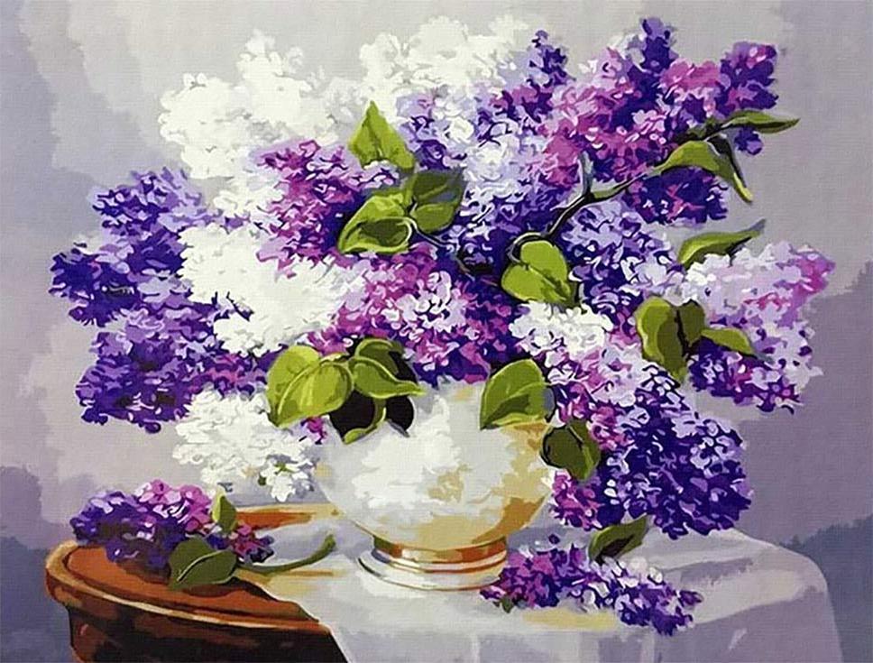 Купить Картина по номерам «Сирень» Анки Булгару, Paintboy (Premium)