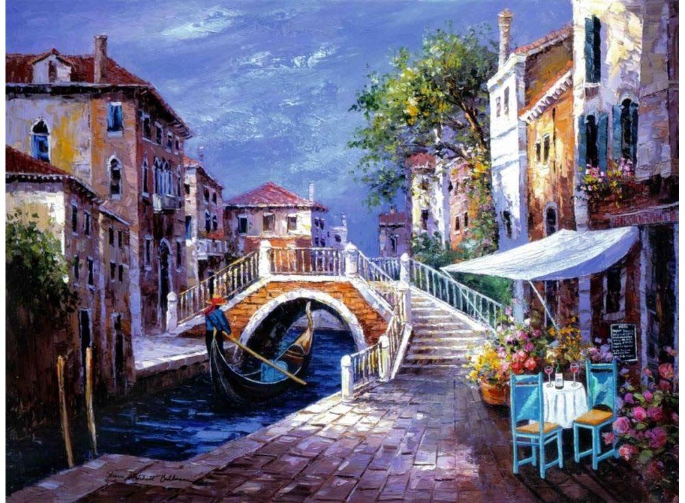 Картина по номерам «Уголок Венеции» Шери Хатчет БолманPaintboy (Premium)<br><br><br>Артикул: GX3611<br>Основа: Холст<br>Сложность: очень сложные<br>Размер: 40x50 см<br>Количество цветов: 32<br>Техника рисования: Без смешивания красок