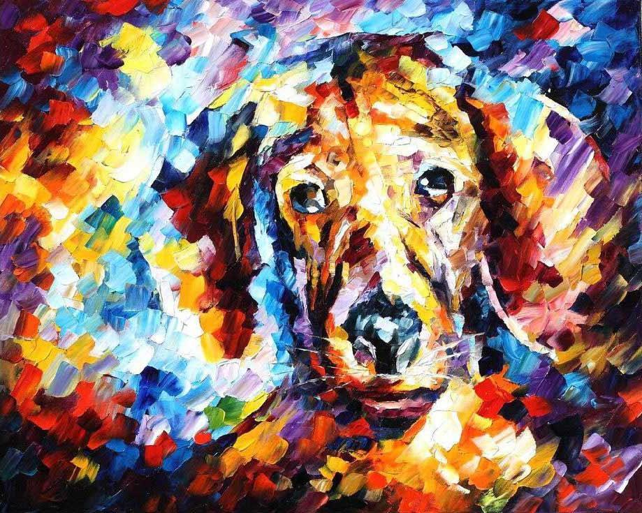 Картина по номерам «Собака» Леонида АфремоваРаскраски по номерам Paintboy (Original)<br><br><br>Артикул: GX4056_R<br>Основа: Холст<br>Сложность: средние<br>Размер: 40x50 см<br>Количество цветов: 24<br>Техника рисования: Без смешивания красок