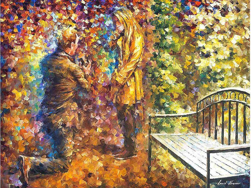 Картина по номерам «Предложение» Леонида АфремоваРаскраски по номерам Paintboy (Original)<br><br>