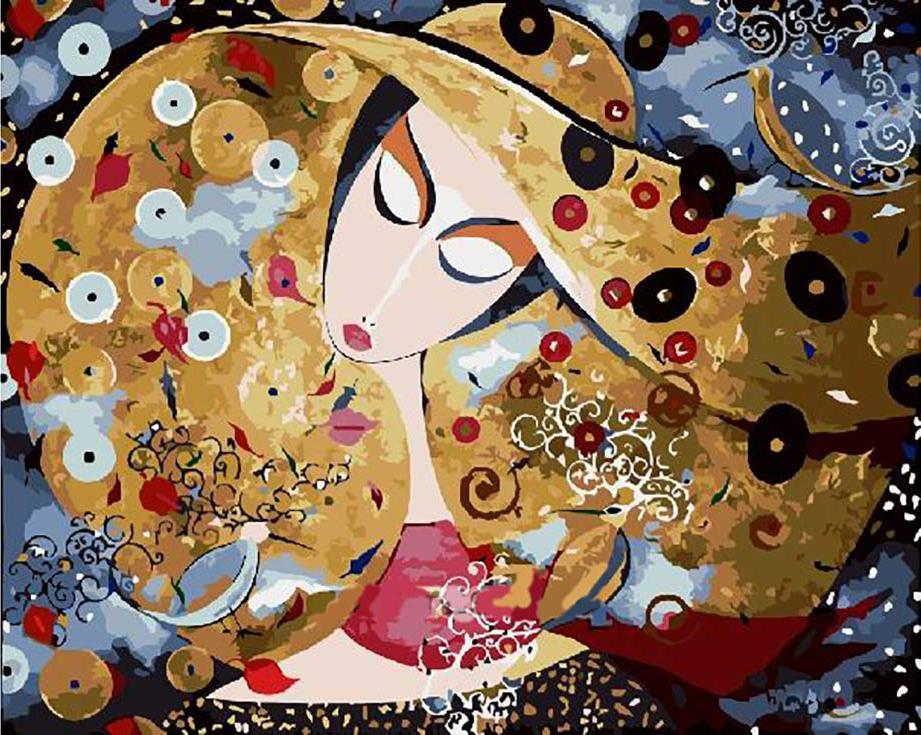 Картина по номерам «Дама в шляпе» Marek WierchuszkoРаскраски по номерам<br><br>