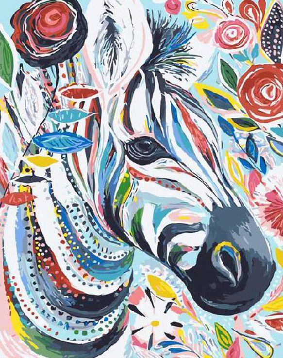 «Радужная зебра» Старлы МишельРаскраски по номерам Paintboy (Original)<br><br><br>Артикул: GX4248_R<br>Основа: Холст<br>Сложность: средние<br>Размер: 40x50 см<br>Количество цветов: 24<br>Техника рисования: Без смешивания красок