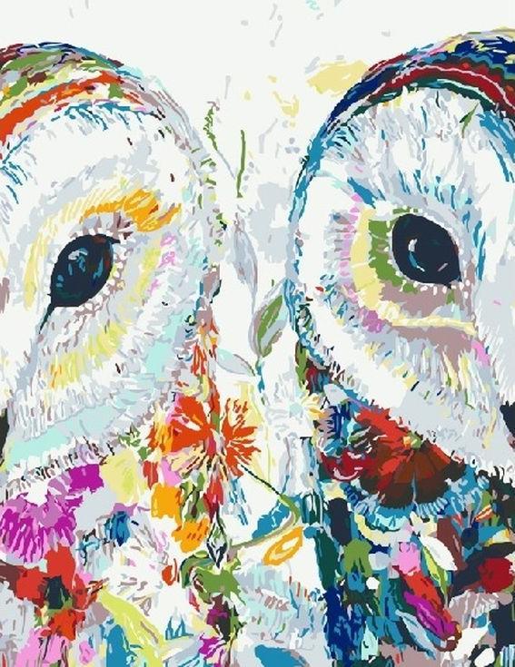 Картина по номерам «Цветочные совы» Старлы МишельРаскраски по номерам Paintboy (Original)<br><br><br>Артикул: GX4299_R<br>Основа: Холст<br>Сложность: средние<br>Размер: 40x50 см<br>Количество цветов: 24<br>Техника рисования: Без смешивания красок