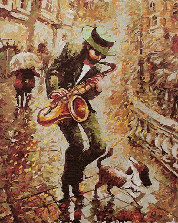 «Осенний блюз» Байрама СаламоваPaintboy (Premium)<br><br><br>Артикул: GX4307<br>Основа: Холст<br>Сложность: сложные<br>Размер: 40x50 см<br>Количество цветов: 25<br>Техника рисования: Без смешивания красок