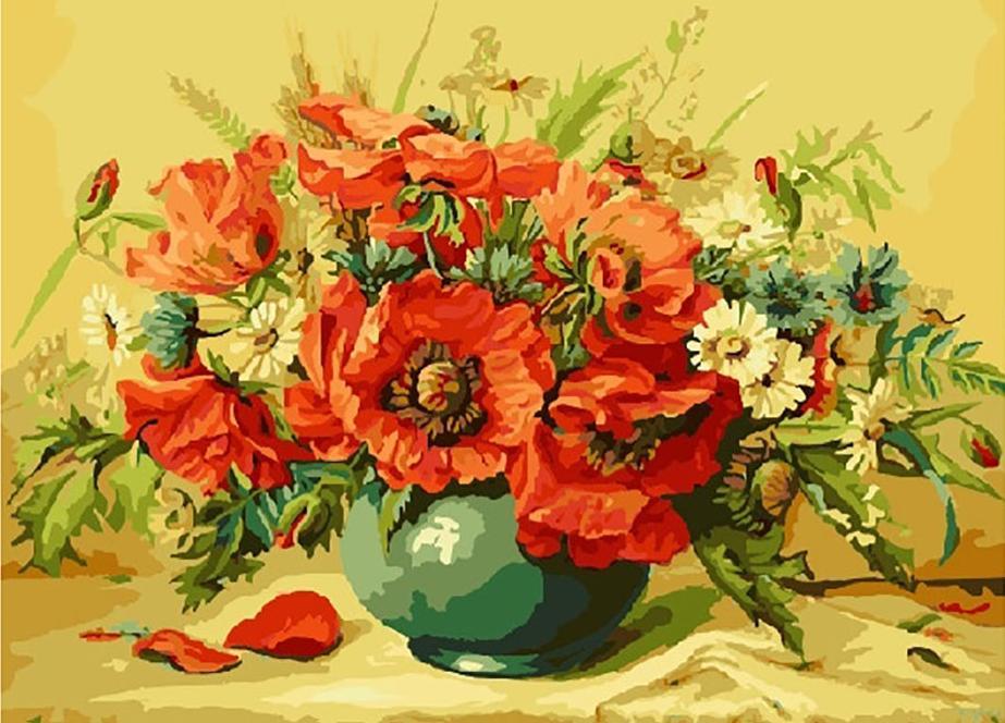 «Маки» Майкла ГауссаРаскраски по номерам Paintboy (Original)<br><br><br>Артикул: GX7173_R<br>Основа: Холст<br>Сложность: сложные<br>Размер: 40x50 см<br>Количество цветов: 28<br>Техника рисования: Без смешивания красок