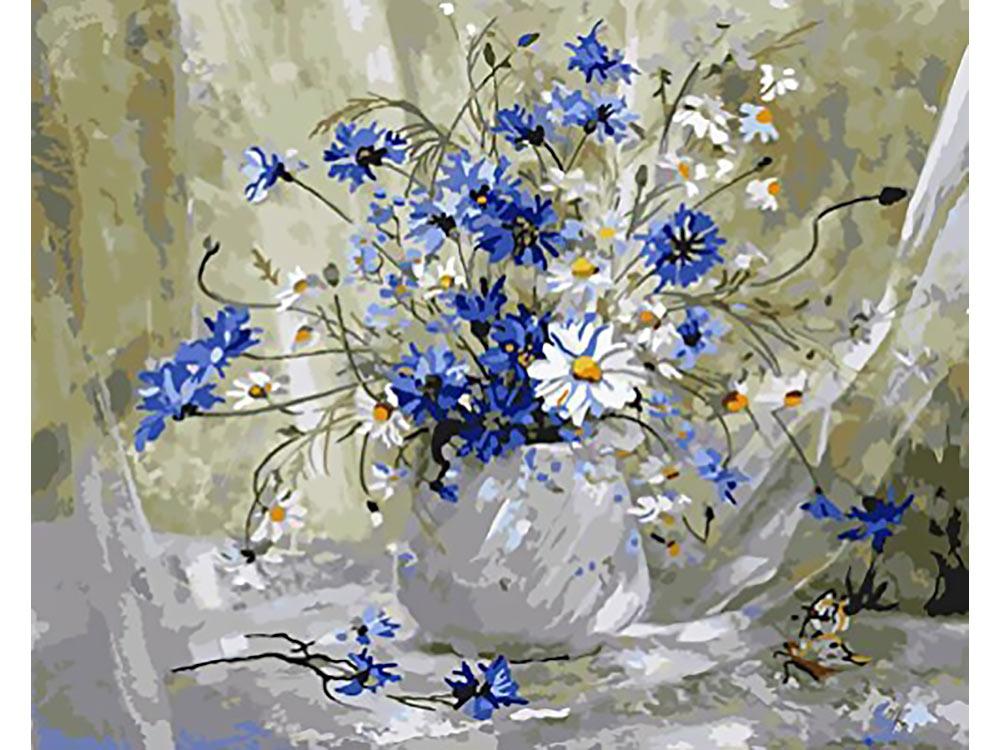 Картины с полевыми цветами маслом