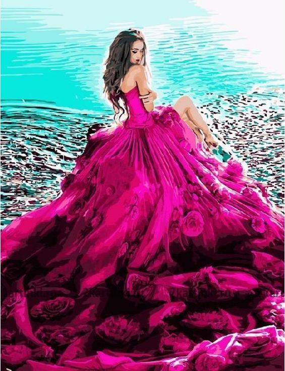 Картина по номерам «В шикарном платье»Paintboy (Premium)<br><br>