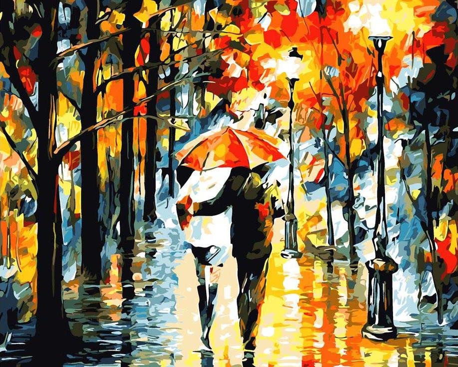 «Осеннее настроение» Леонида АфремоваPaintboy (Premium)<br><br><br>Артикул: GX9308<br>Основа: Холст<br>Сложность: средние<br>Размер: 40x50 см<br>Количество цветов: 24<br>Техника рисования: Без смешивания красок