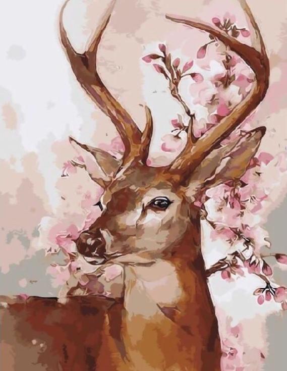 «Волшебный олень»Раскраски по номерам Paintboy (Original)<br><br><br>Артикул: GX9369_R<br>Основа: Холст<br>Сложность: средние<br>Размер: 40x50 см<br>Количество цветов: 24<br>Техника рисовани: Без смешивани красок