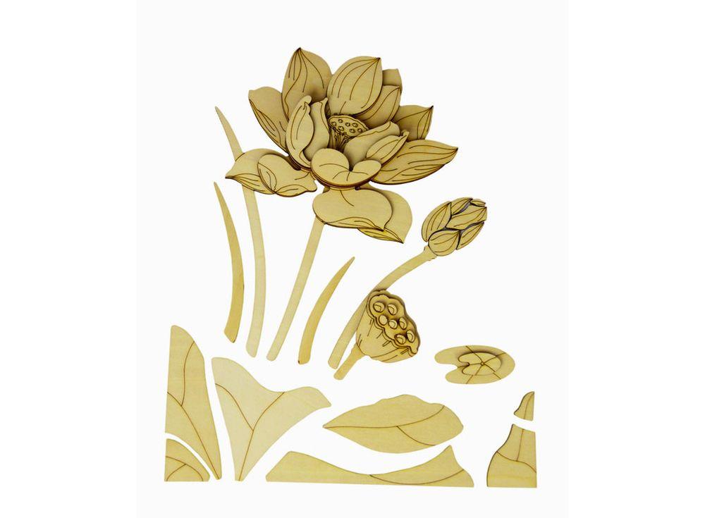 Набор для творчества. Декоративное панно из дерева «Лотос» (часть В)Декоративные панно из дерева<br>Панно всегда привлекают внимание и часто становятся доминантой в интерьере. А если эта важная составляющая изготовлена собственноручно и из экологически чистого материала, то, несомненно, декоративное панно станет акцентом дизайна. Именно для тех, кто цен...<br><br>Артикул: LTH-H003B-S<br>Вес: 1100 г<br>Материал: Дерево<br>Упаковка: картонная коробка<br>Размер упаковки: 46x61x3,5 см<br>Возраст: от 6 лет