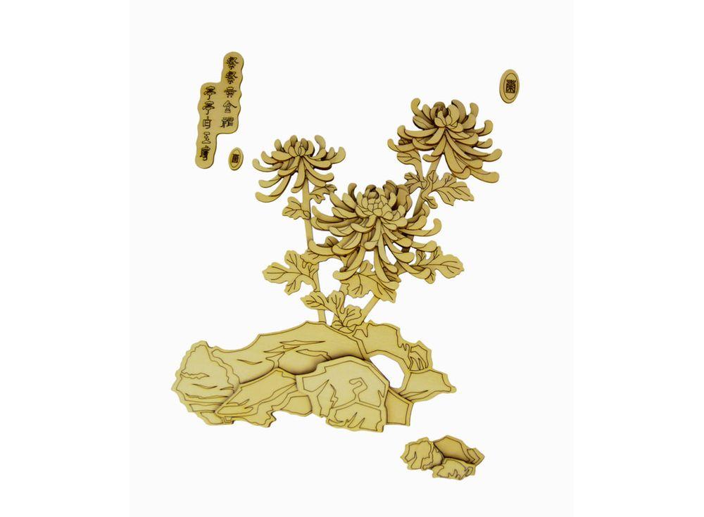 Набор для творчества. Декоративное панно из дерева «Хризантемы»Декоративные панно из дерева<br>Панно всегда привлекают внимание и часто становятся доминантой в интерьере. А если эта важная составляющая изготовлена собственноручно и из экологически чистого материала, то, несомненно, декоративное панно станет акцентом дизайна. Именно для тех, кто цен...<br><br>Артикул: LTH-H006-S<br>Вес: 1100 г<br>Материал: Дерево<br>Упаковка: картонная коробка<br>Размер упаковки: 46x61x3,5 см<br>Возраст: от 6 лет