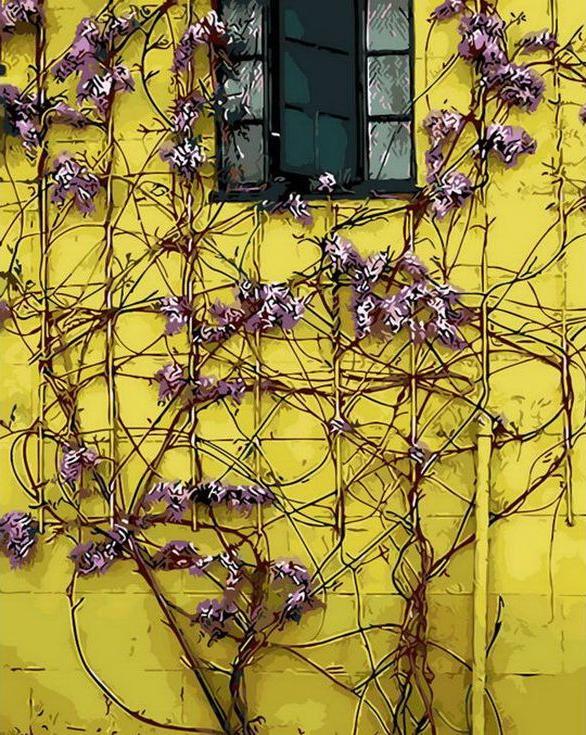 «Желтый дом»Раскраски по номерам Menglei (Standart)<br><br><br>Артикул: MG8200_S<br>Основа: Холст<br>Сложность: очень сложные<br>Размер: 40x50 см<br>Количество цветов: 28<br>Техника рисования: Без смешивания красок
