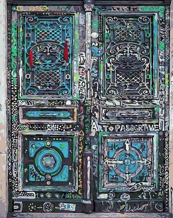 «Волшебная дверь»Раскраски по номерам Menglei (Standart)<br><br><br>Артикул: MG8229_S<br>Основа: Холст<br>Сложность: сложные<br>Размер: 40x50 см<br>Количество цветов: 24<br>Техника рисования: Без смешивания красок