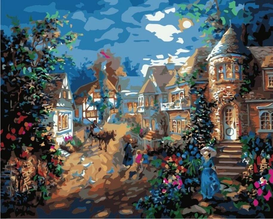 Картина по номерам «В лунном свете» Ники БоэмЦветной (Premium)<br><br><br>Артикул: MG3242_Z<br>Основа: Холст<br>Сложность: сложные<br>Размер: 40x50 см<br>Количество цветов: 25<br>Техника рисования: Без смешивания красок