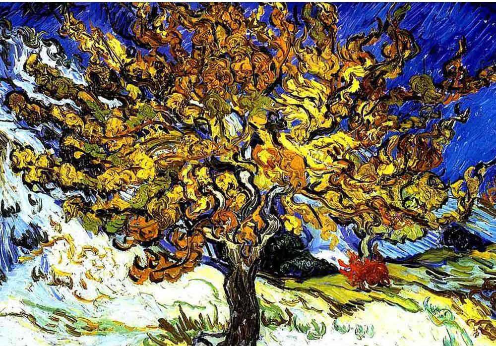 «Дерево» Ван ГогаРаскраски по номерам Menglei (Standart)<br><br><br>Артикул: MG430_S<br>Основа: Холст<br>Сложность: сложные<br>Размер: 40x50 см<br>Количество цветов: 18<br>Техника рисования: Без смешивания красок