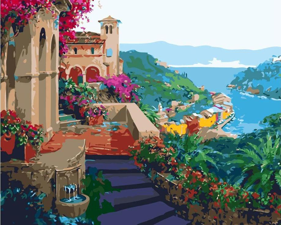 «Южный город»Раскраски по номерам Menglei (Standart)<br><br><br>Артикул: MG465_S<br>Основа: Холст<br>Сложность: сложные<br>Размер: 40x50 см<br>Количество цветов: 24<br>Техника рисования: Без смешивания красок