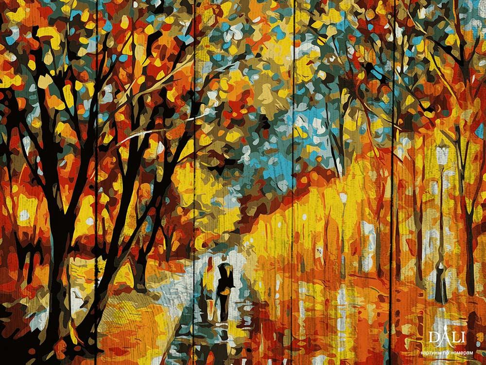 Картина по номерам по дереву Dali «Вечерняя прогулка» Леонида АфремоваКартины по номерам по дереву Dali<br>Новинка в наборах для творчества - картины по номерам по дереву Dali. Преимущества максимальной комплектации понятны с первого взгляда, в наборе есть все, чтобы создать невероятный по красоте шедевр. Однако не только в этом уникальность новинки, ведь<br> де...<br><br>Артикул: WA011<br>Основа: Деревянное панно<br>Сложность: сложные<br>Размер: 40x50 см<br>Количество цветов: 16<br>Техника рисования: Без смешивания красок