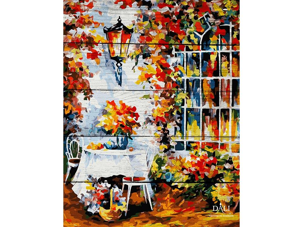 Картина по номерам по дереву Dali «Столик в саду» Леонида АфремоваКартины по номерам по дереву<br>Новинка в наборах для творчества - картины по номерам по дереву Dali. Преимущества максимальной комплектации понятны с первого взгляда, в наборе есть все, чтобы создать невероятный по красоте шедевр. Однако не только в этом уникальность новинки, ведь<br> де...<br><br>Артикул: WA029<br>Основа: Деревянное панно<br>Сложность: очень сложные<br>Размер: 40x50 см<br>Художник: Леонид Афремов<br>Количество цветов: 24<br>Техника рисования: Без смешивания красок
