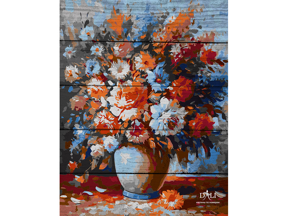 Купить Картина по номерам по дереву Dali «Весенний букет»