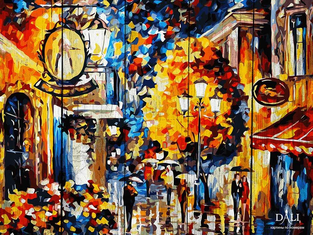 Картина по номерам по дереву Dali «Осень в Париже» Леонида АфремоваКартины по номерам по дереву Dali<br>Новинка в наборах для творчества - картины по номерам по дереву Dali. Преимущества максимальной комплектации понятны с первого взгляда, в наборе есть все, чтобы создать невероятный по красоте шедевр. Однако не только в этом уникальность новинки, ведь<br> де...<br><br>Артикул: WC014<br>Основа: Деревянное панно<br>Сложность: очень сложные<br>Размер: 40x50 см<br>Количество цветов: 24<br>Техника рисования: Без смешивания красок