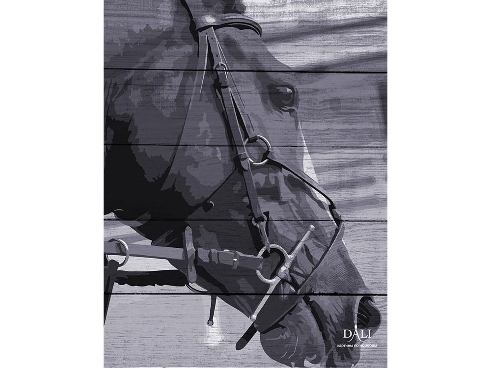Картина по номерам по дереву Dali «Лошадь в поводьях»Картины по номерам по дереву Dali<br>Новинка в наборах для творчества - картины по номерам по дереву Dali. Преимущества максимальной комплектации понятны с первого взгляда, в наборе есть все, чтобы создать невероятный по красоте шедевр. Однако не только в этом уникальность новинки, ведь<br> де...<br><br>Артикул: WF001<br>Основа: Деревянное панно<br>Сложность: сложные<br>Размер: 40x50 см<br>Количество цветов: 7<br>Техника рисования: Без смешивания красок