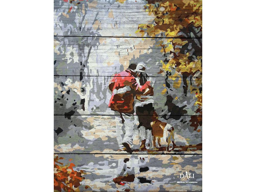 Купить Картина по номерам по дереву Dali «Прогулка по осеннему лесу» Ричарда Макнейла